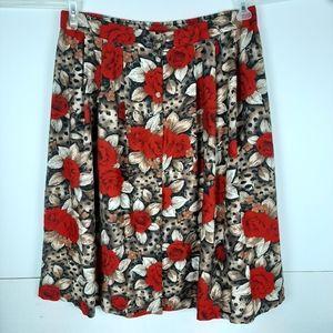 3/$30  Kathie Lee sz 26W Cheetah/Floral Skirt